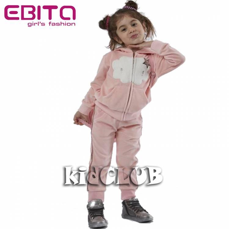 Φόρμα βελούδο με ζακέτα και απλικέ EBITA-Evita faeec0c9ff6