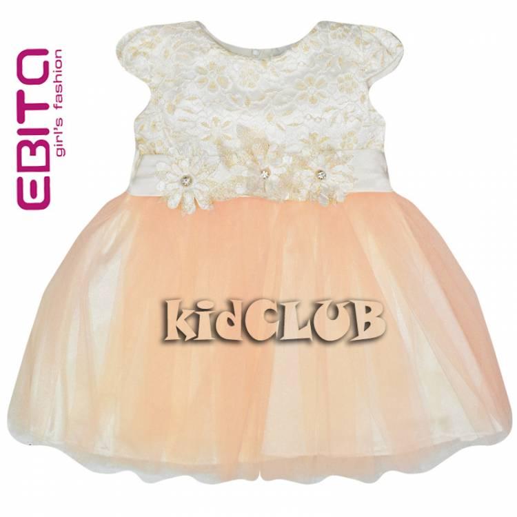 de621827604 Φόρεμα τούλι κορίτσι με δαντέλα EBITA