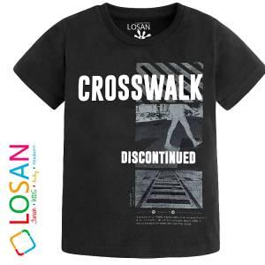 Μπλούζα με κοντό μανίκι για αγόρι σταμπωτό Discontinued Losan