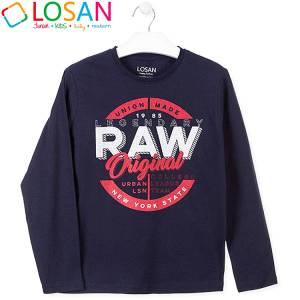 Μπλούζα με μακρύ μανίκι για αγόρι σταμπωτή Legendary Losan