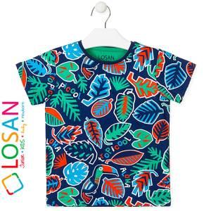 Μπλούζα με κοντό μανίκι για αγόρι σταμπωτό Aloha Losan