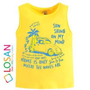 Μπλούζα αμάνικη για αγόρι σταμπωτό Pasific Losan