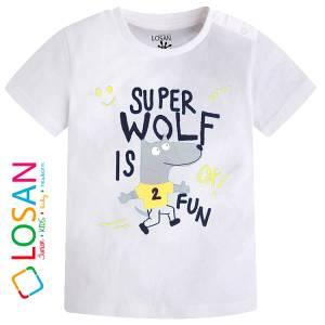 Μπλούζα με κοντό μανίκι για βρεφικό αγόρι σταμπωτό Fantastic Losan