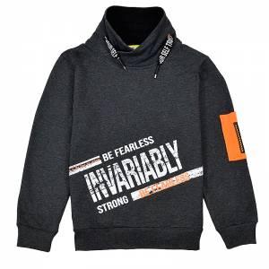 Μπλούζα φούτερ αγορίστικη με στάμπα Invarably Hashtag