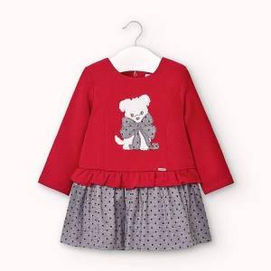 Φόρεμα συνδιασμένο φούτερ για κορίτσι βρεφικό Mayoral