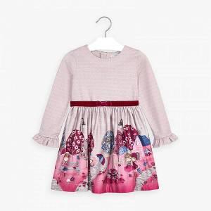 Φόρεμα κοριτσίστικο με τύπωμα και ζώνη Mayoral