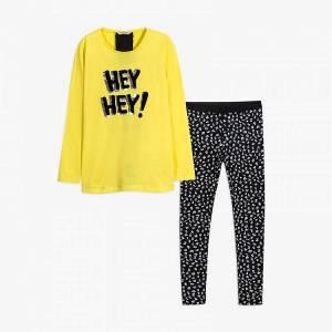 Σετ μπλούζα με κολάν κοριτσίστικο με τύπωμα Γράμματα Mayoral