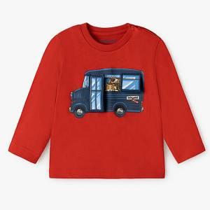 Μπλούζα μακρυμάνικη για baby αγόρι λεωφορείο Mayoral