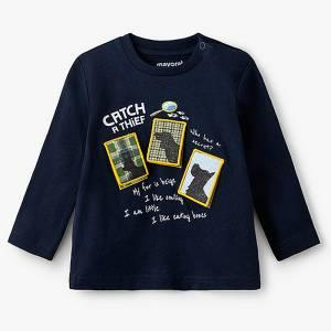 Μπλούζα μακρυμάνικη για baby αγόρι catch Mayoral