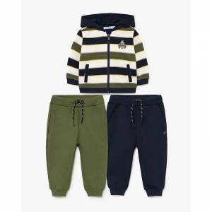 Φόρμα φούτερ με δύο παντελόνια για baby αγόρι Mayoral