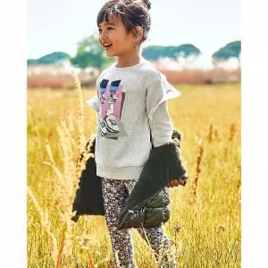 Σετ μπλούζα φούτερ με κολάν κοριτσίστικο σταμπωτό Mayoral