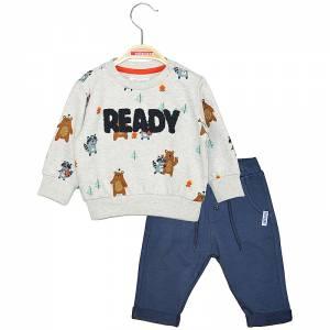 Φόρμα φούτερ για μωρό αγόρι με στάμπα αρκουδάκι Energiers
