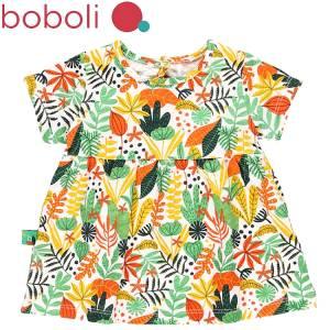 Φόρεμα σταμπωτό με ελαστικότητα φλοράλ Boboli