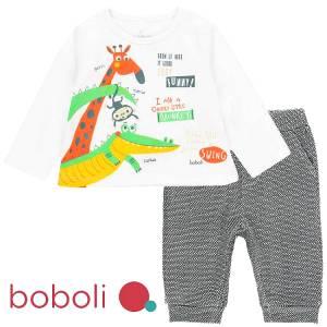 Σετ μπλούζα με παντελόνι baby Boboli