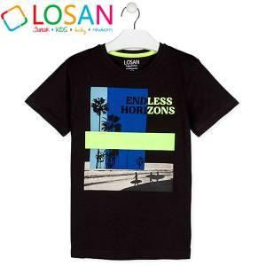 Μπλούζα με κοντό μανίκι για αγόρι σταμπωτό endless Losan