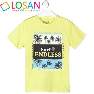 Μπλούζα με κοντό μανίκι για αγόρι σταμπωτό tropical Losan