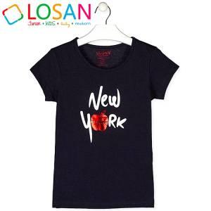 Μπλούζα κοντομάνικη κορίτσι σταμπωτή της Losan