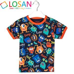 Μπλούζα με κοντό μανίκι για αγόρι σταμπωτό Losan