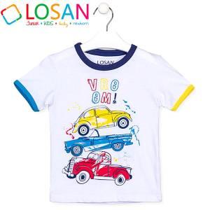 Μπλούζα με κοντό μανίκι για αγόρι σταμπωτό vroom Losan