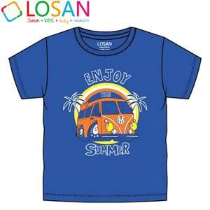 Μπλούζα με κοντό μανίκι για αγόρι σταμπωτό βανάκι Losan