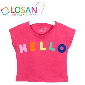 Μπλούζα αμάνικη κορίτσι κέντημα της Losan
