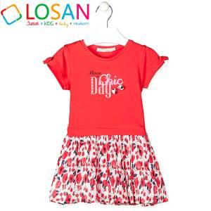 Φόρεμα για κορίτσι σταμπωτό Losan