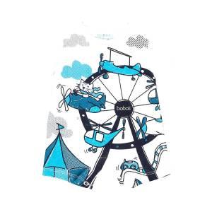 Φορμάκι βρεφικό αγόρι με κοντό μανίκι τύπωμα Pilot Boboli