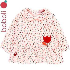 Φόρεμα βρεφικό με τύπωμα πουά κοριτσίστικο Boboli