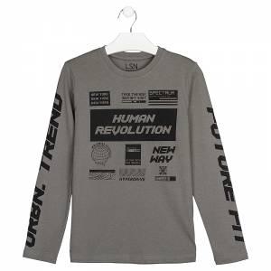 Μπλούζα μακρυμάνικη αγορίστικη με στάμπα Revolution losan