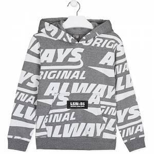 Μπλούζα φούτερ αγορίστικη με στάμπα γράμματα Losan