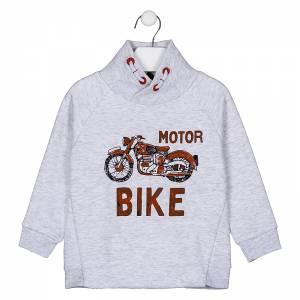 Μπλούζα φούτερ αγορίστικη με στάμπα μοτοσυκλέτα Losan