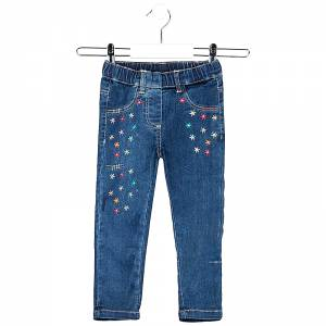 Παντελόνι τζιν μακρύ με λάστιχο στη μέση για κορίτσι Losan