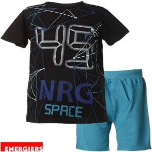 Σετ μπλούζα με κοντό παντελόνι αγόρι με τύπωμα 45 ENERGIERS