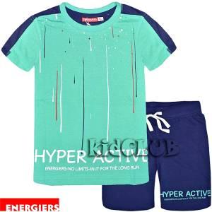 Σετ μπλούζα με κοντό παντελόνι αγόρι με τύπωμα Hyper ENERGIERS