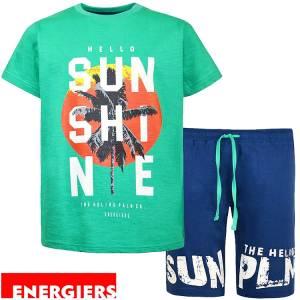 Σετ μπλούζα με κοντό παντελόνι αγόρι σταμπωτό Hello Energiers