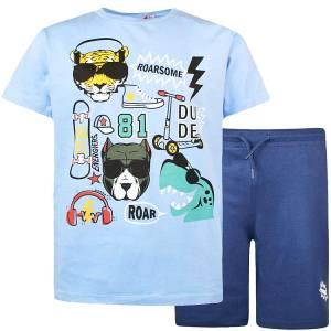 Σετ μπλούζα με κοντό παντελόνι αγόρι σταμπωτό dude Energiers