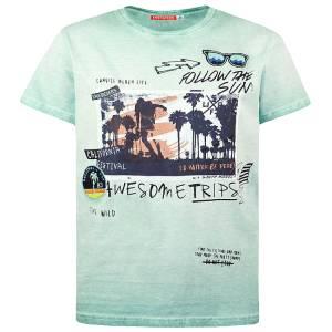 Μπλούζα με κοντό μανίκι για αγόρι σταμπωτό festival Energiers