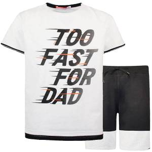 Σετ μπλούζα με κοντό παντελόνι αγόρι σταμπωτό dad Energiers