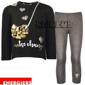 Σετ μπλούζα και κολάν κορίτσι με τύπωμα Make Energiers