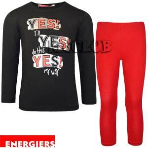 Σετ μπλούζα και κολάν κορίτσι με τύπωμα My way Energiers
