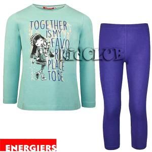 Σετ μπλούζα και κολάν κορίτσι με τύπωμα Favorite Energiers