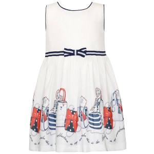 Φόρεμα από ύφασμα ποπλίνα σταμπωτό κορίτσι Energiers