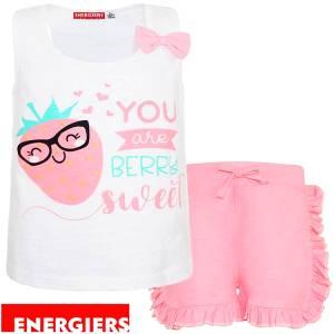 Σετ μπλούζα και σορτς κορίτσι σταμπωτό One Energiers
