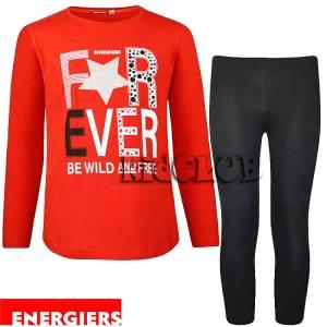 Σετ μπλούζα και κολάν κορίτσι με τύπωμα Ever Energiers
