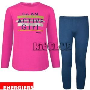 Σετ μπλούζα και κολάν κορίτσι με τύπωμα Girl Energiers