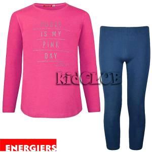 Σετ μπλούζα και κολάν κορίτσι με τύπωμα Day Energiers