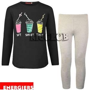 Σετ μπλούζα και κολάν κορίτσι με τύπωμα Sweet Energiers