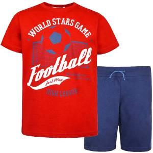 Σετ μπλούζα με κοντό παντελόνι αγόρι σταμπωτό Μπάλα Energiers