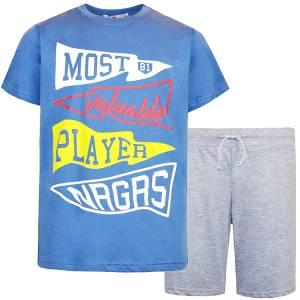 Σετ μπλούζα με κοντό παντελόνι αγόρι σταμπωτό Most Energiers