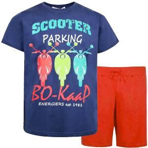 Σετ μπλούζα με κοντό παντελόνι αγόρι σταμπωτό Parking Energiers